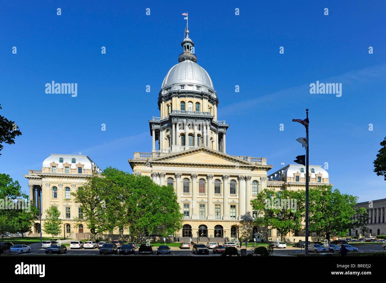 Illinois State Capitol Building Springfield Illinois - Stock Image