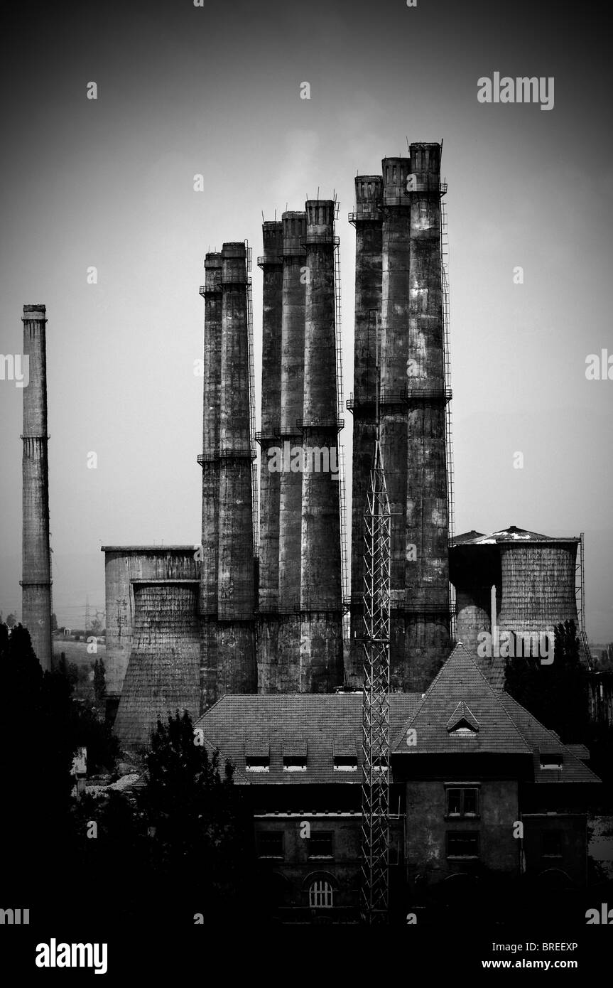 Romania.  Old factory - Stock Image