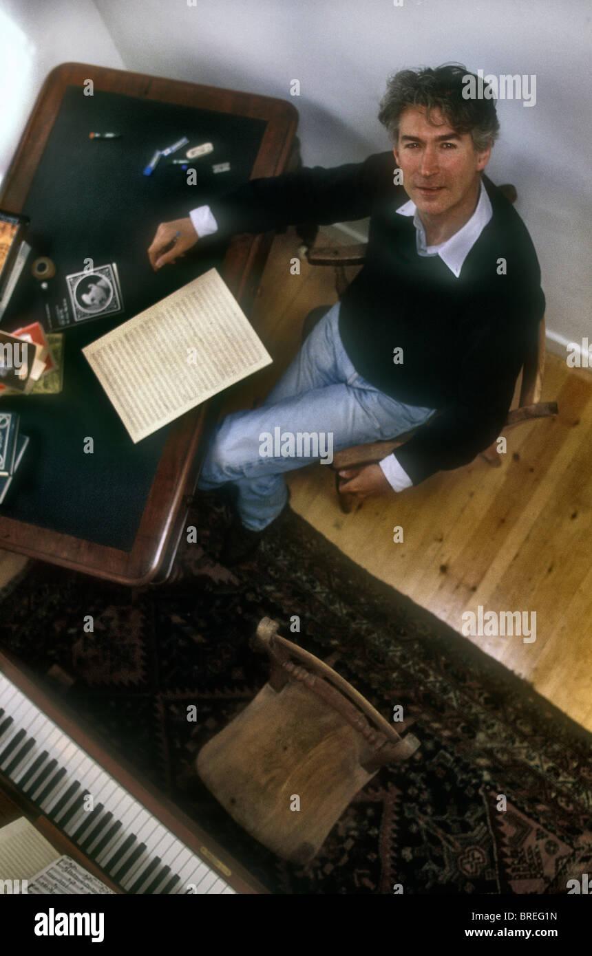 Geoffrey Burgon Composer .1985 - Stock Image