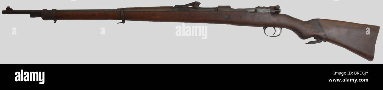 Armes à feu, Fusil G98 prise de guerre du Maquis, calibre 8 x 57, fabriqué à Danzig en 1916, fond - Stock Image