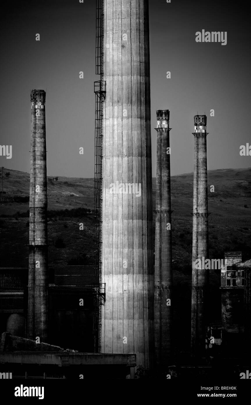 Romania  abandoned factory - Stock Image