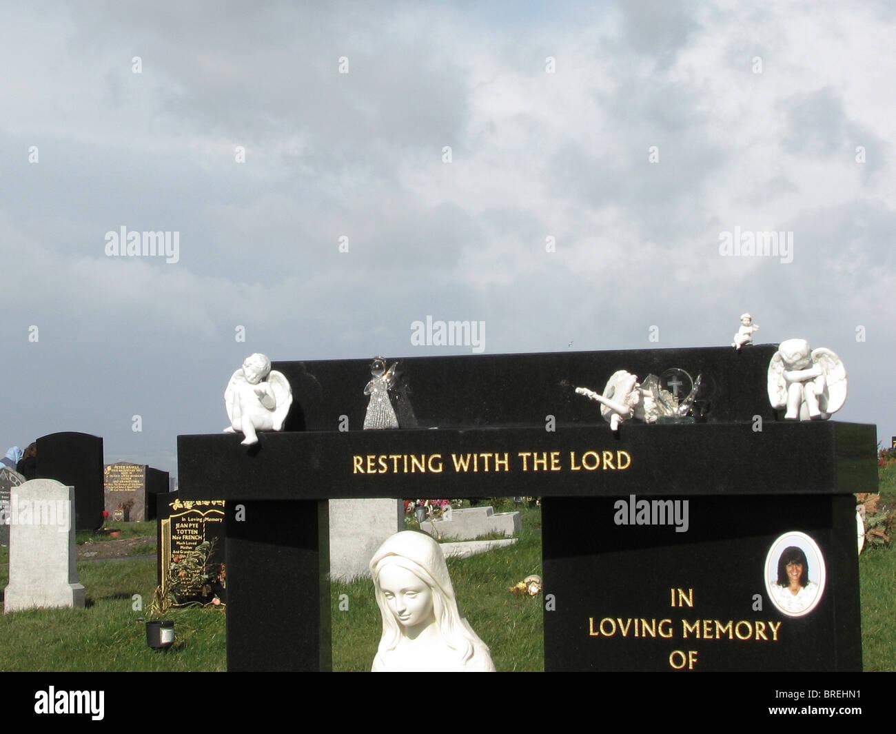 Cemetery Glasgow - Stock Image