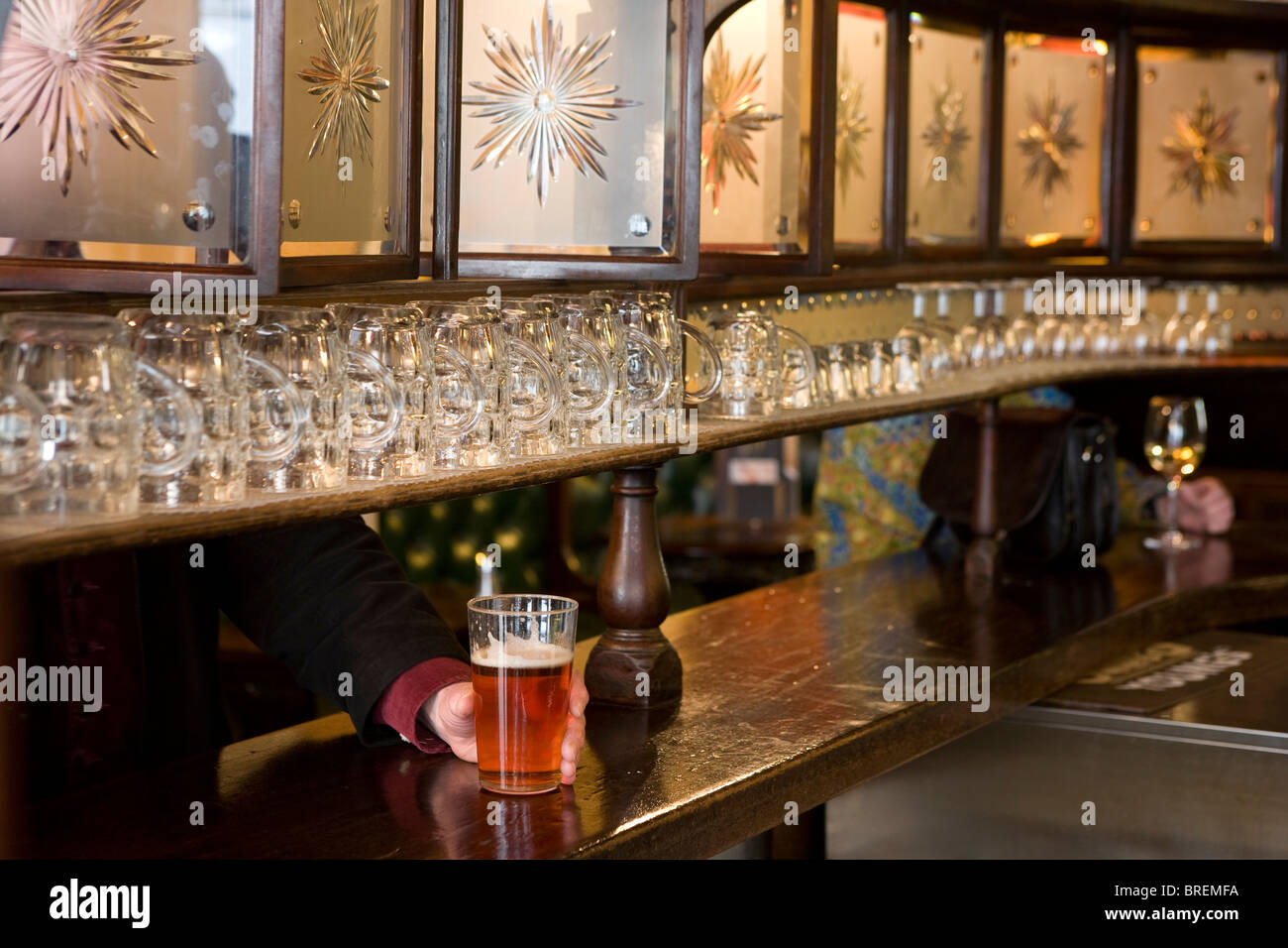 The Lamb a traditional pub in central London run byYoungs Britain's well known real ale brewer - Stock Image