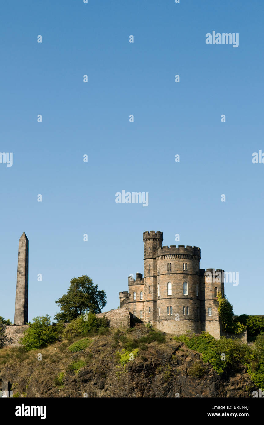 Political Martyrs' Monument and the Governor's House - Calton Jail. Stock Photo