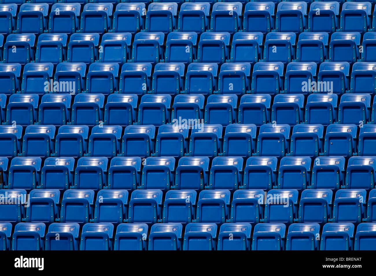 Empty Stadium Seating. - Stock Image