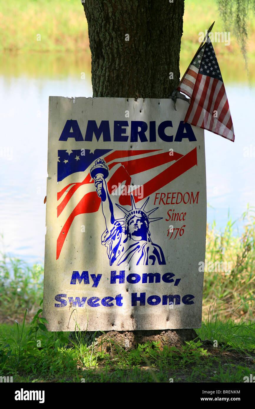 'America, My home, Sweet Home.' - Stock Image