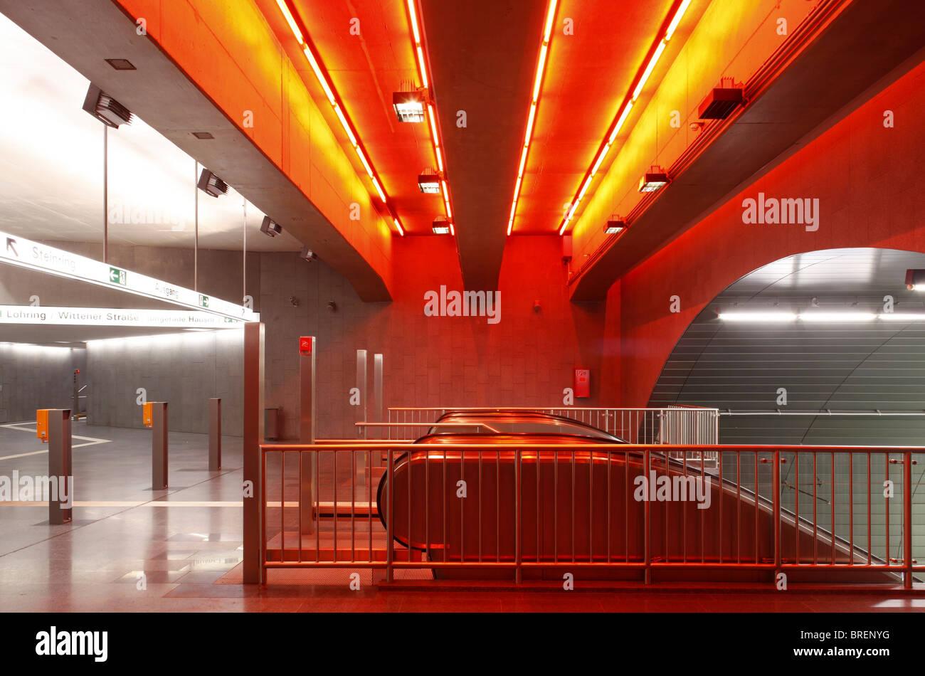 Lohring Underground Station, Bochum, North Rhine-Westphalia, Germany, Europe - Stock Image