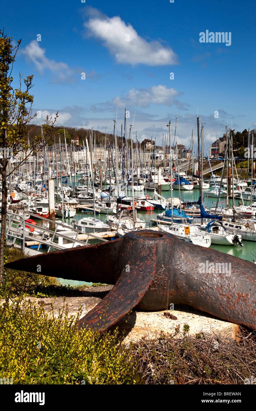 The harbour at Saint-Valery-en-Caux, Upper Normandy, France - Stock Image