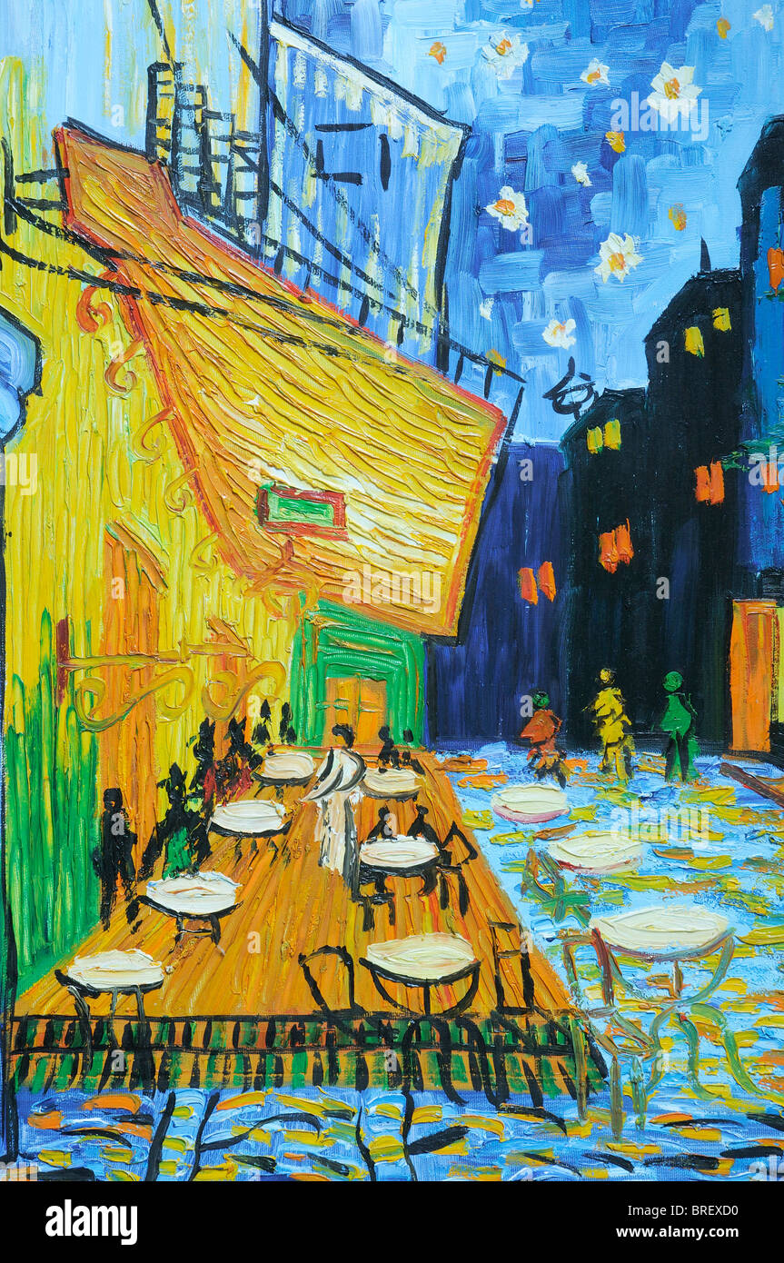Detail of a Vincent van Gogh style painting - Stock Image