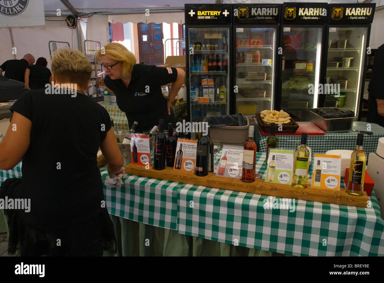 Wine festival during the folk music week in Pori Finland Europe Stock Photo