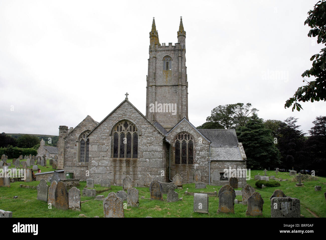 St. Pancras Church, Widecombe-in-the-Moor, Devon, Dartmoor, South England, Great Britain, Europe - Stock Image