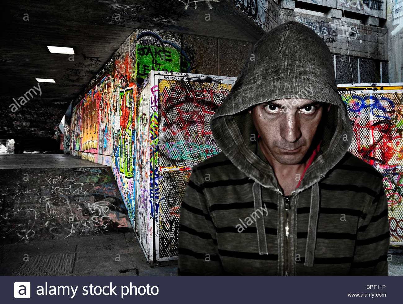 graffiti artist - Stock Image