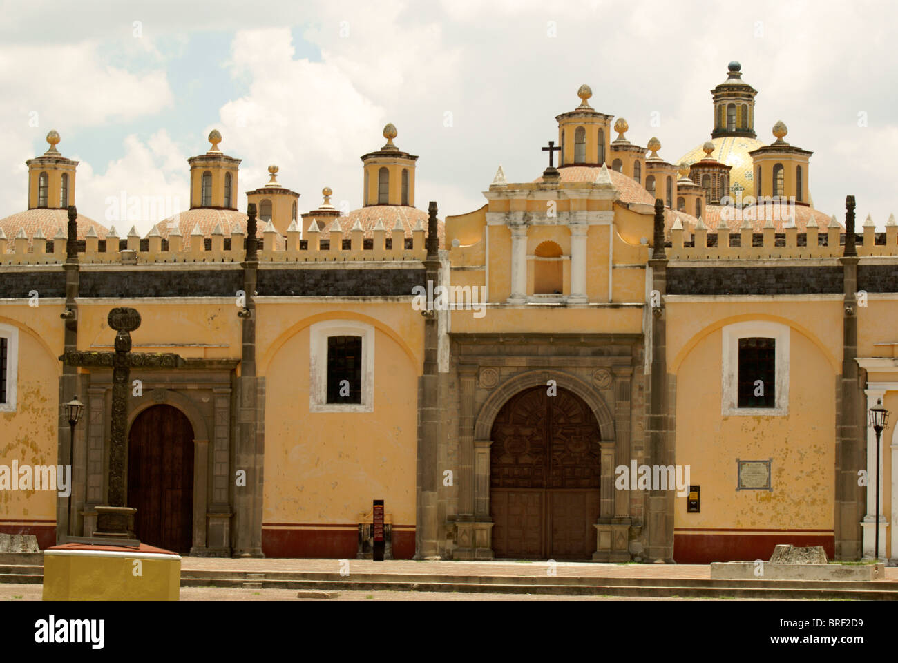 The 16th century Capilla Real, Ex-Convento de San Gabriel, Cholula, Puebla, Mexico. Cholula is a UNESCO World Heritage - Stock Image