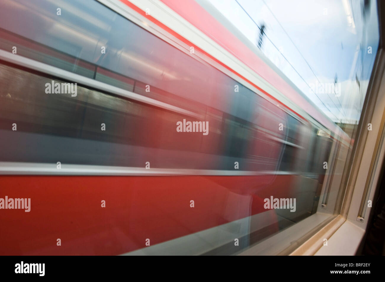 Train passing by - Stock Image