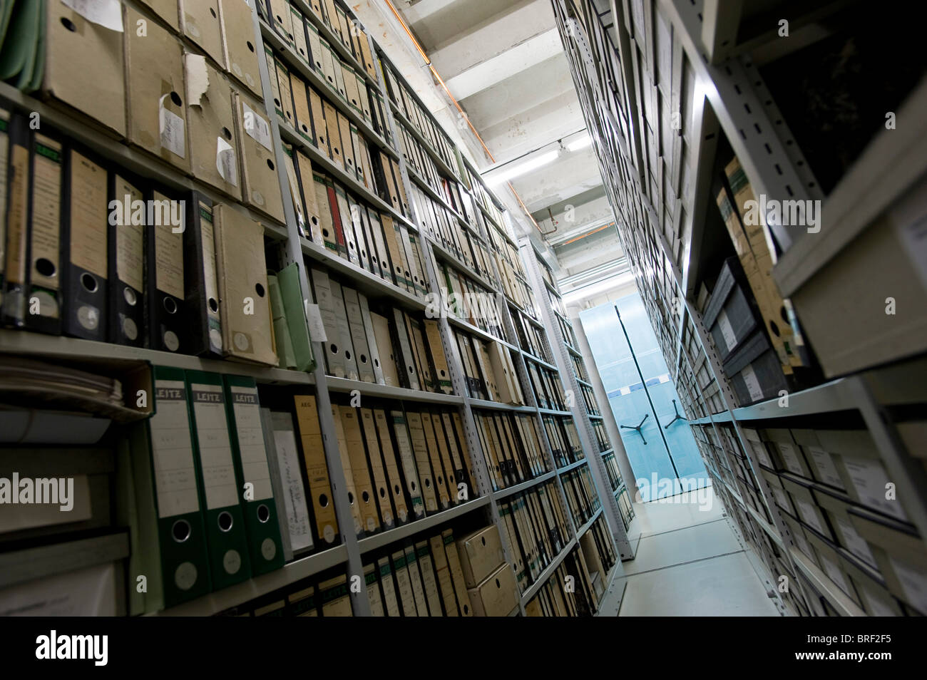 Archive of the Deutsches Technikmuseum, German museum of Technology, Berlin, Germany, Europe - Stock Image