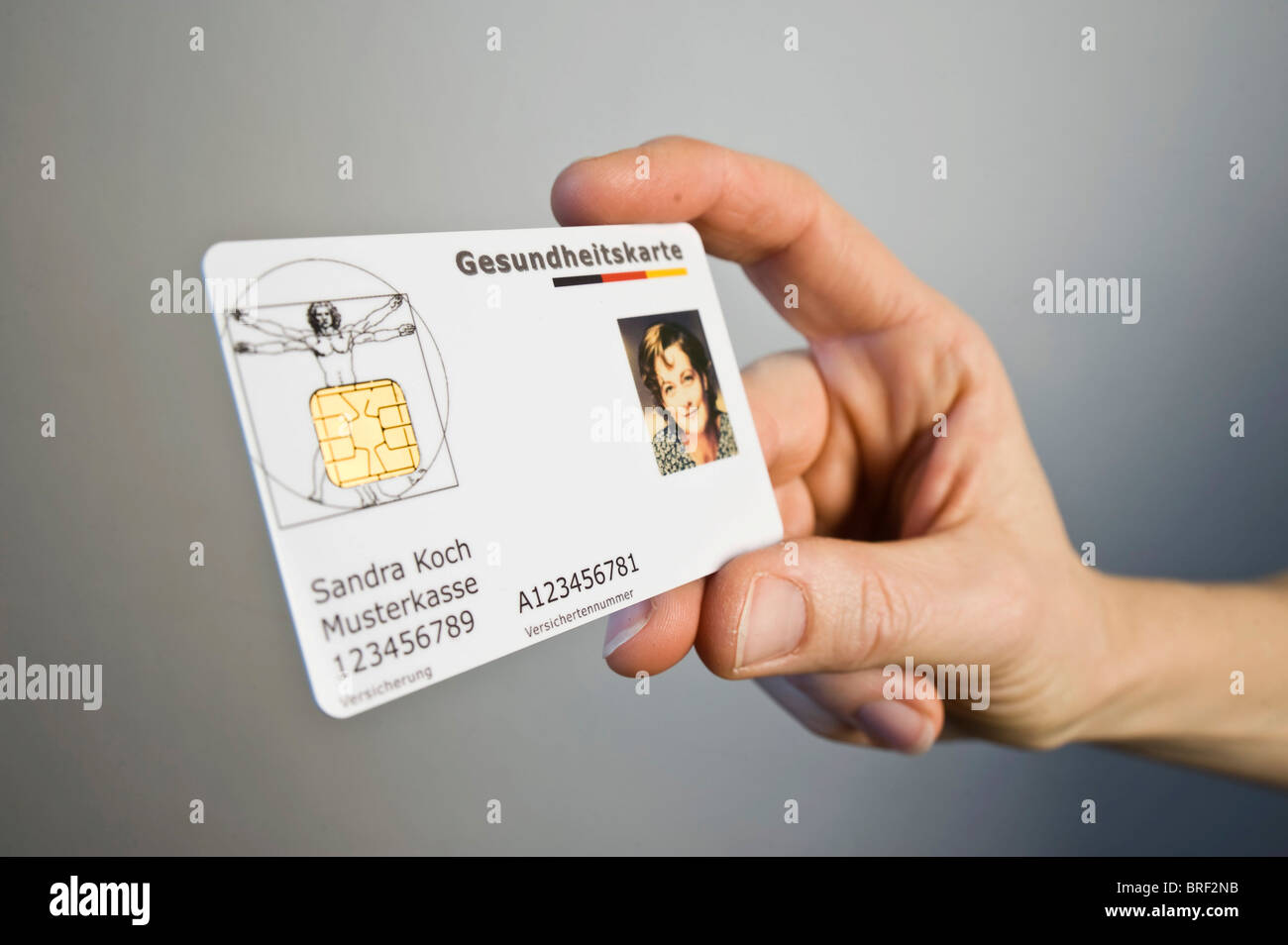 German electronic health insurance card - Stock Image