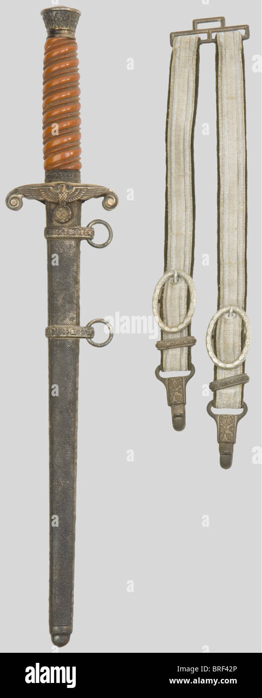 A German dagger pattern 1935, for infantry officers, made by Eickhorn, complete. The metal parts oxidized. Taken - Stock Image