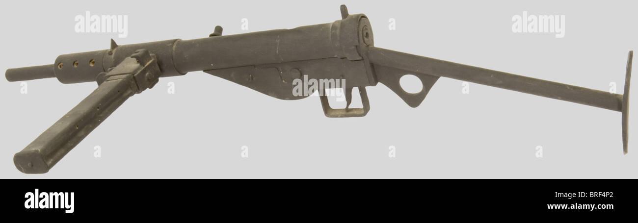 Armes à feu, Maquette en bois de Sten MK II, à l'échelle 1. Superbe travail., , Additional-Rights - Stock Image