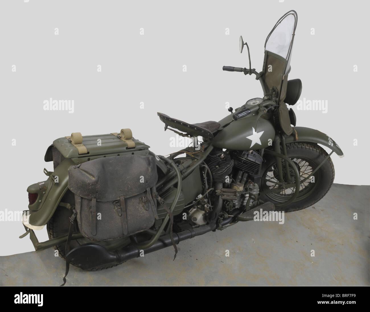 Véhicules Militaires, Moto Harley Davidson 1200 CC, Cette moto est un modèle assez rare. Fabriqué - Stock Image