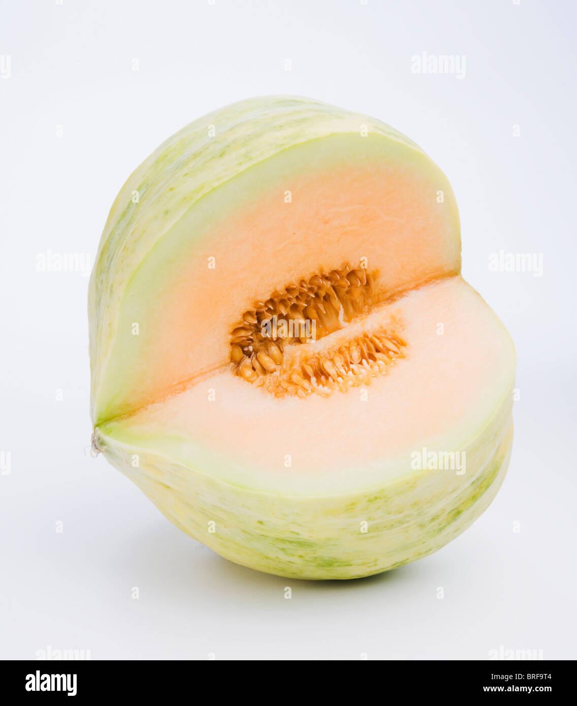 Crenshaw melon, close-up - Stock Image