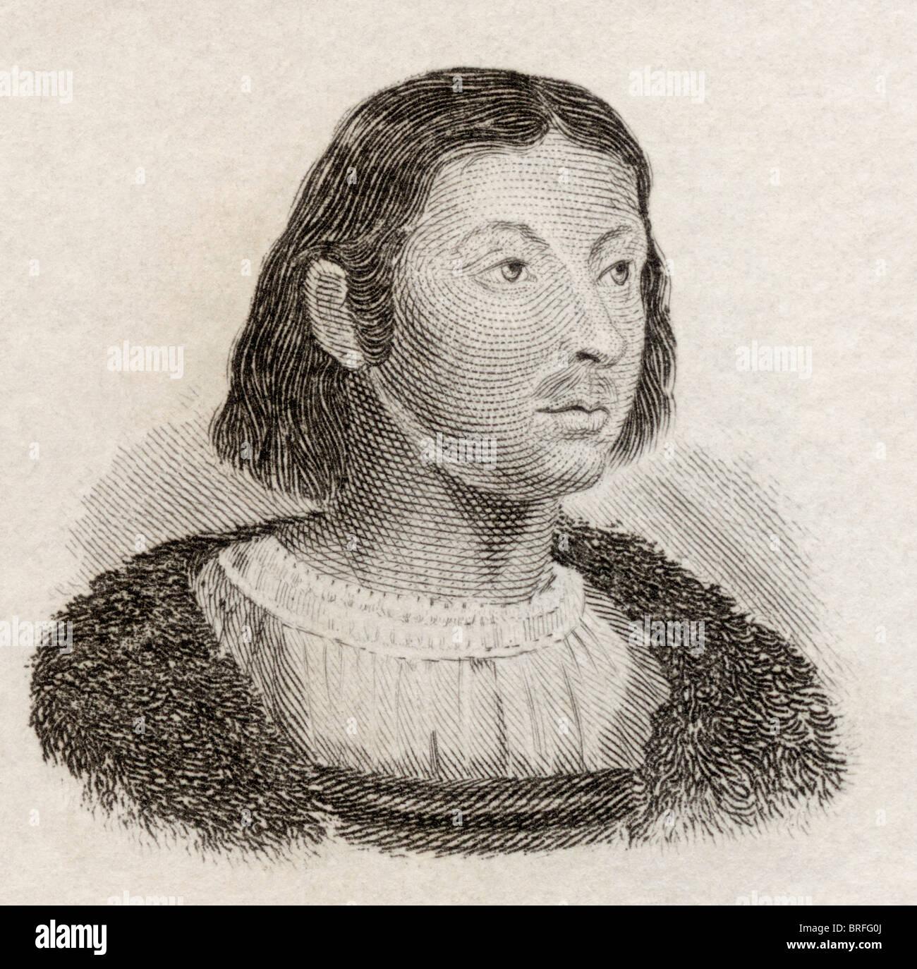 Giovanni Boccaccio, 1313 to 1375. Italian author, poet, Renaissance humanist and author. - Stock Image
