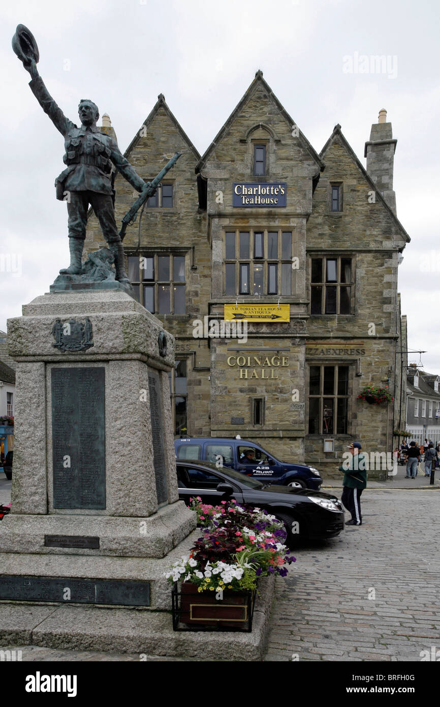 Town Hall, Truro, Cornwall, South England, Great Britain, Europe - Stock Image