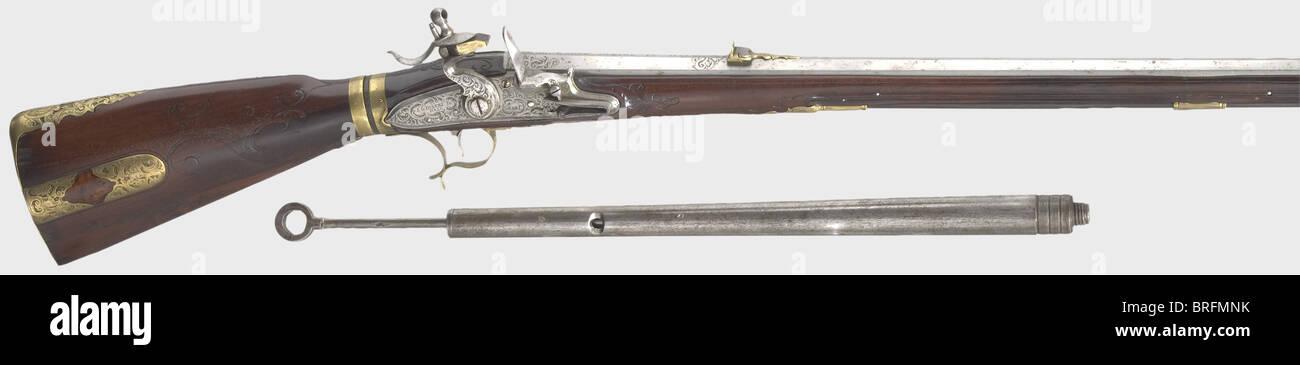 an air rifle with a butt stock reservoir and pump johann georg