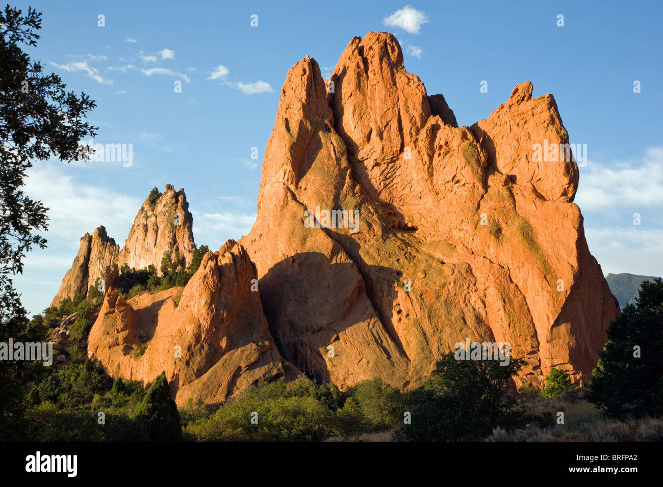 South Gateway Rock, Garden of the Gods.  Years of erosion create unique sandstone formations, Colorado Springs, - Stock Image