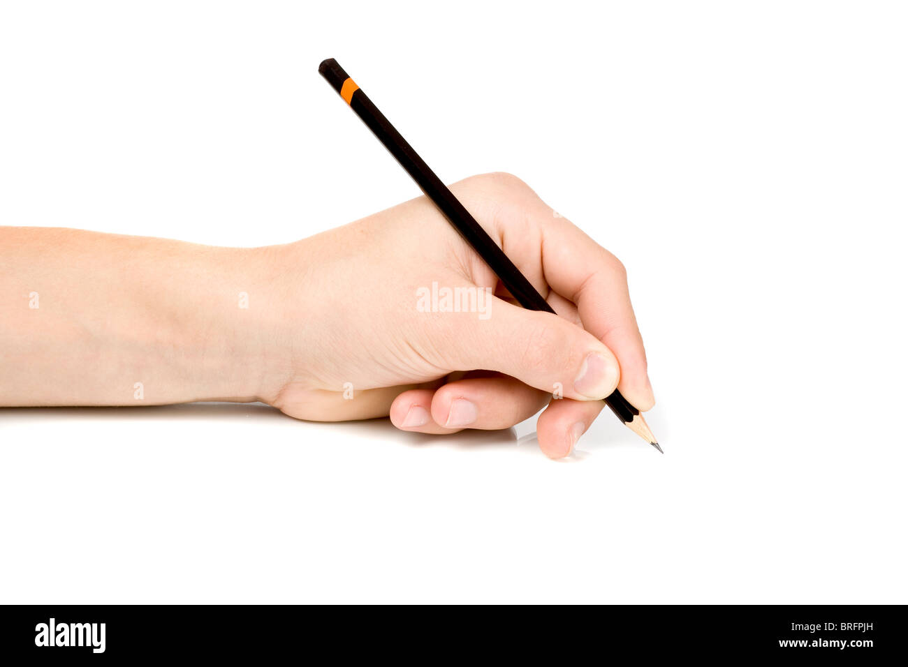Left hand writing - Stock Image