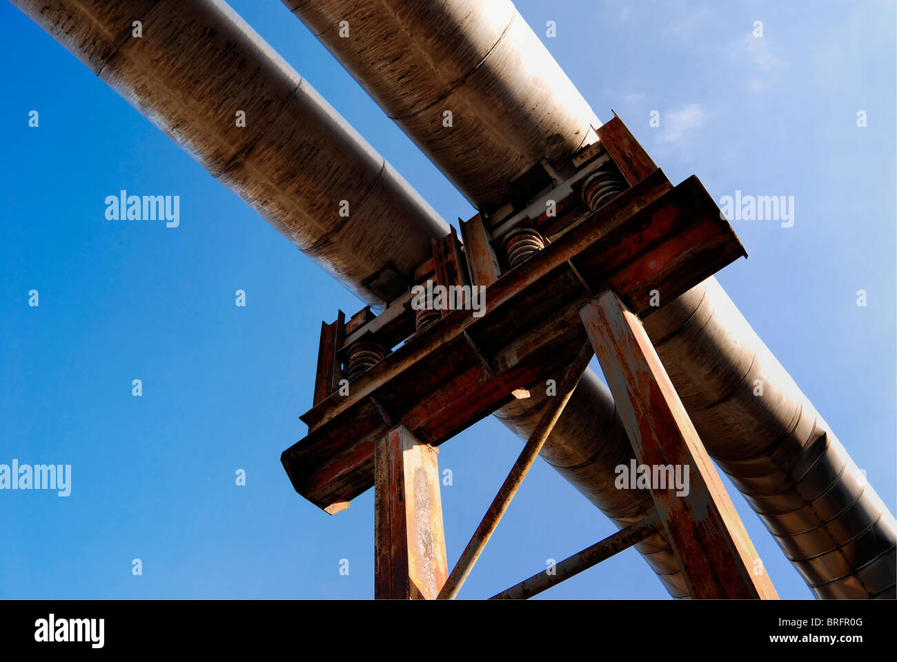 gas pipeline - Stock Image