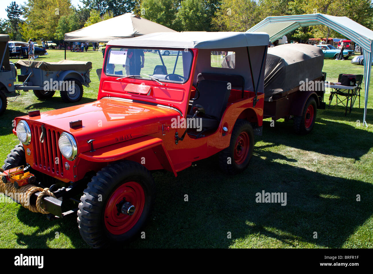 Old Willys Jeep Stock Photos Images Page 3 1950 Cj 3a For Sale A 1952 Cj3a At The 2010 Ironstone Concours Delegance Image