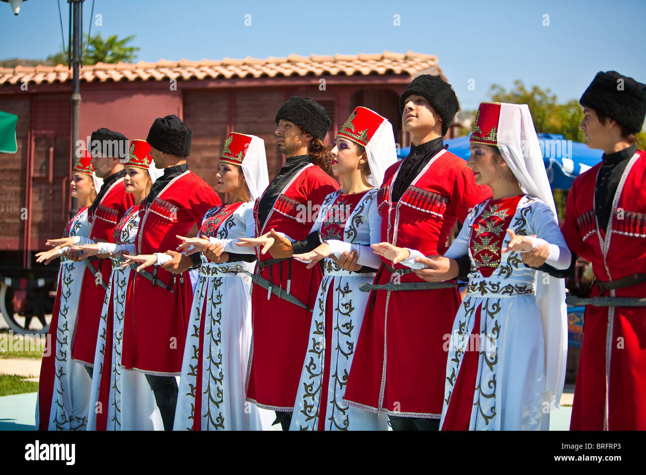 Turkish men and women wearing traditional clothes performing Anatolian dances of Artvin u0026 Kars Selcuk. Turkey  sc 1 st  Alamy & Turkish men and women wearing traditional clothes performing Stock ...