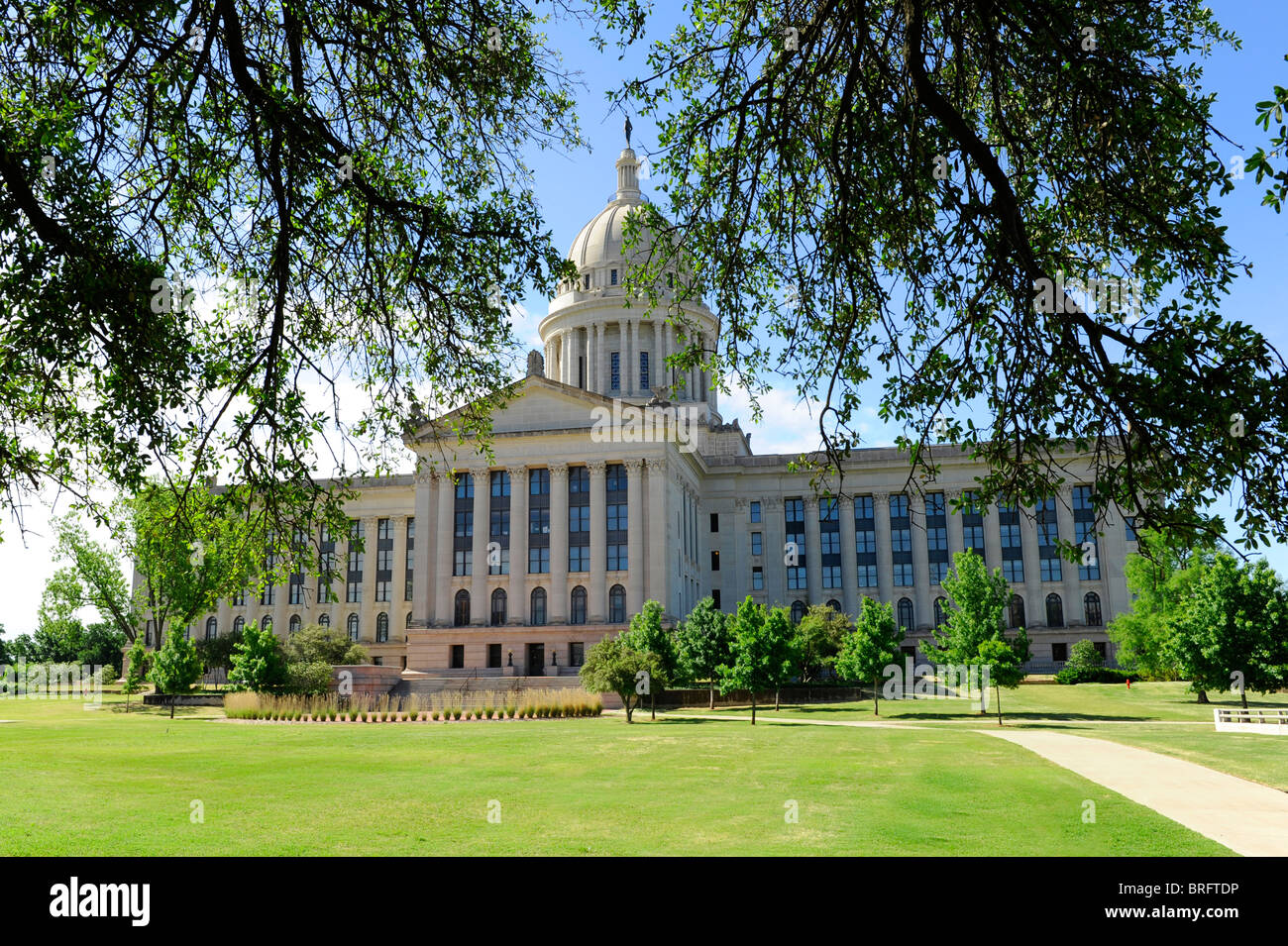 Oklahoma City Capitol Building Stock Photo