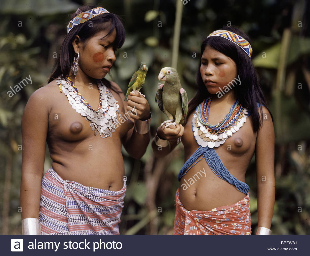 Girls Of The Choco Tribe Wear Colombian Silver Coin