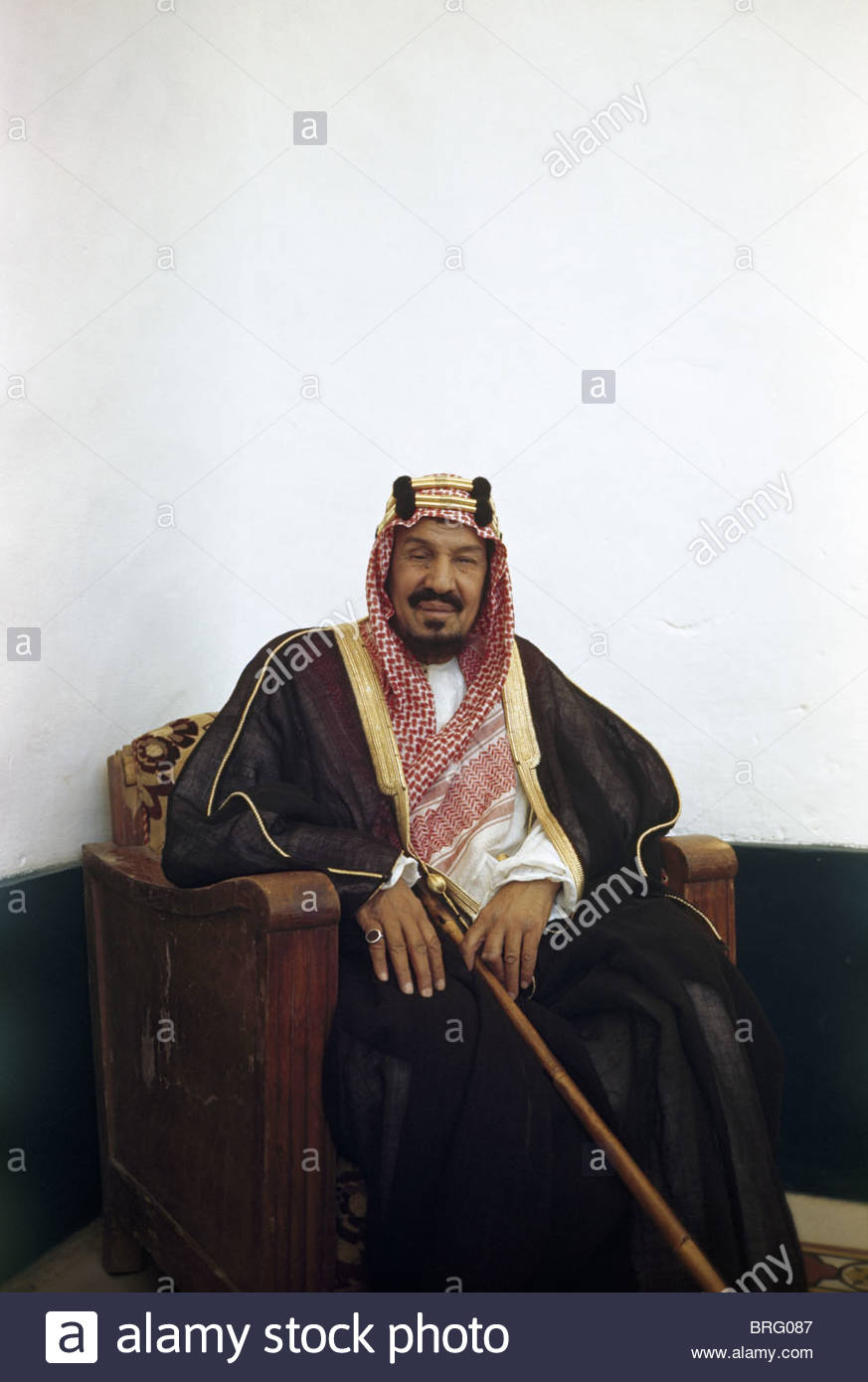 Portrait of King Abdul Aziz al Saud. Stock Photo