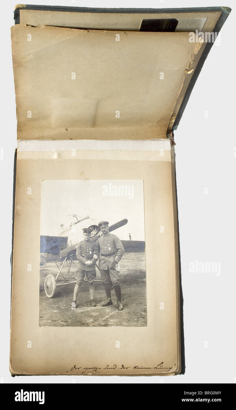 Ernst Udet - seven photo albums, from Udet's possessions, mainly pictures from the period of the First World - Stock Image