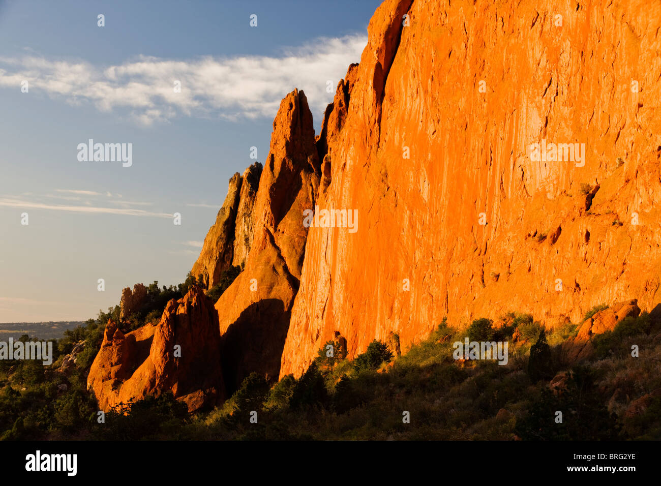 North Gateway Rock, Garden of the Gods.  Years of erosion create unique sandstone formations, Colorado, USA - Stock Image