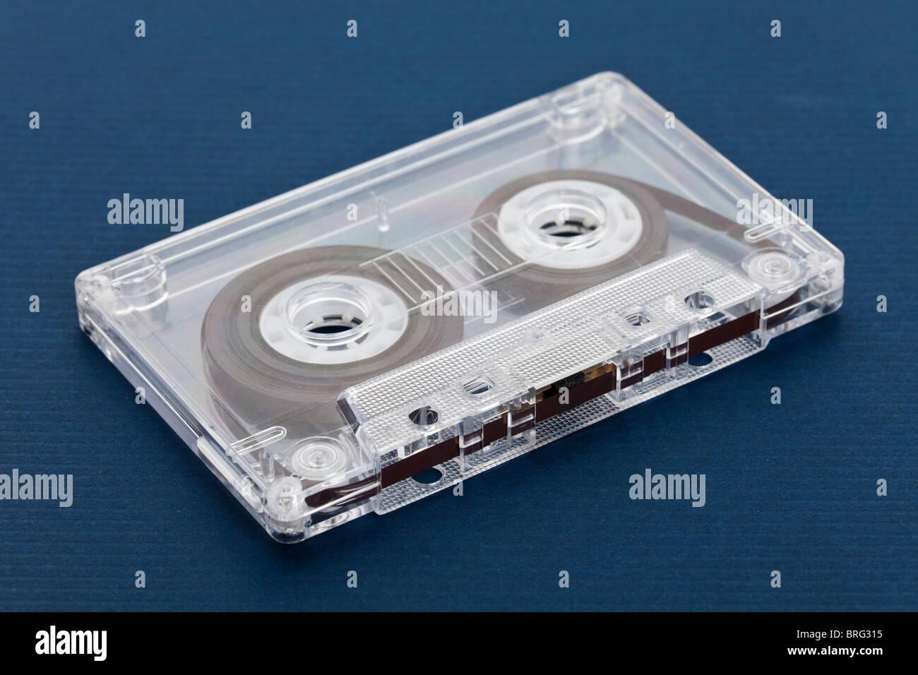 Audio Cassette close up shot - Stock Image