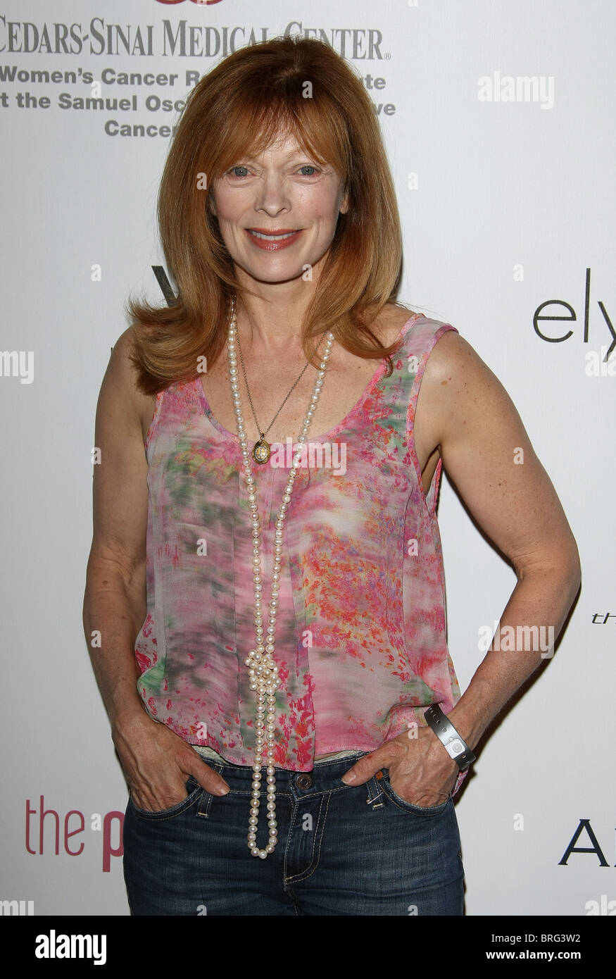 FRANCIS FISHER 6TH ANNUAL PINK PARTY HOLLYWOOD LOS ANGELES CALIFORNIA USA 25 September 2010 - Stock Image