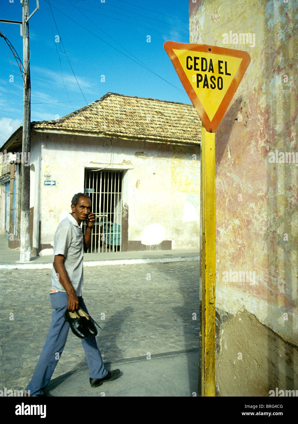 MAN IN OLD TRINIDAD Stock Photo