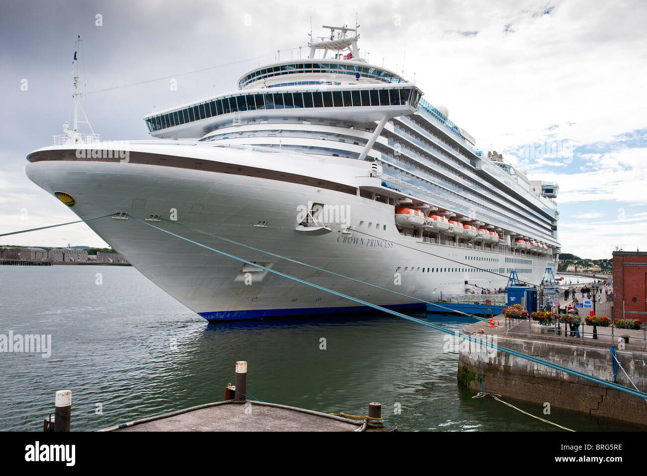 Crown Princess cruise ship Cobh harbour, County Cork, Ireland - Stock Image