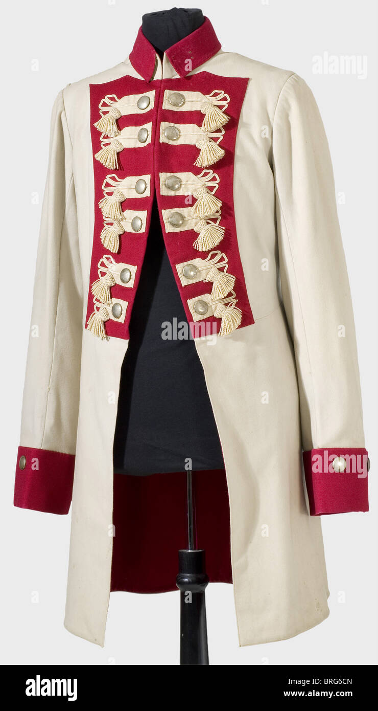A coat for palace ceremonies for enlisted men, of the 2nd platoon of the Life Guard Gendarmerie, Prussia, circa - Stock Image