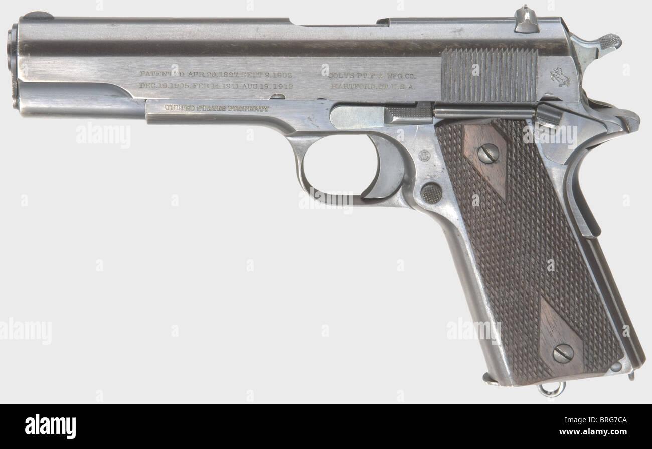 A Colt Model 1911 45 Automatic Pistol, calibre .45 ACP, no. 86182 ...