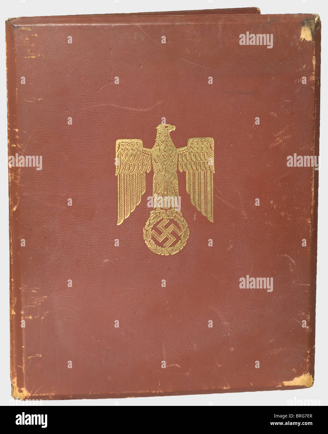 First Lieutenant Sophus Baagoe (1915 - 1941), the award document and folder for the Knight's Cross of the Iron - Stock Image