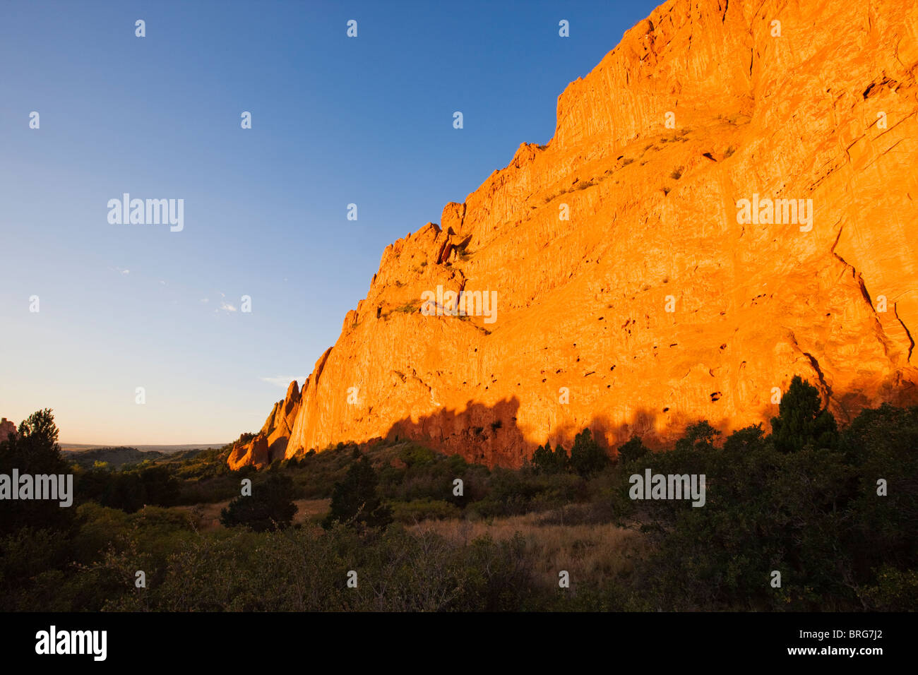 North Gateway Rock, Garden of the Gods. Years of erosion create unique sandstone formations, National Natural Landmark, - Stock Image