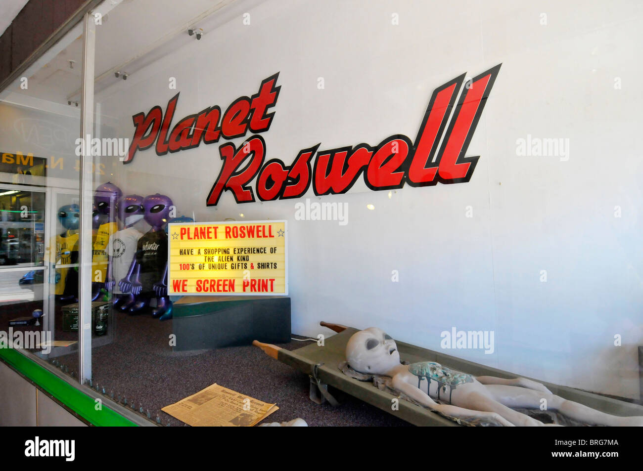 Shopping in Roswell New Mexico  - Stock Image