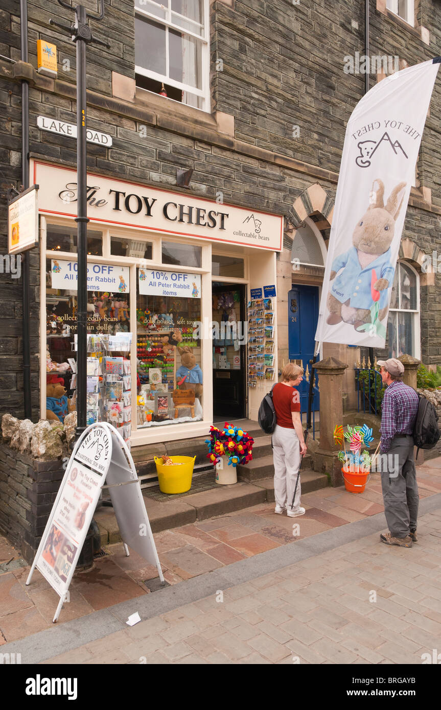 The Toy Chest toy shop store at Keswick , Cumbria , England , Great Britain , Uk - Stock Image