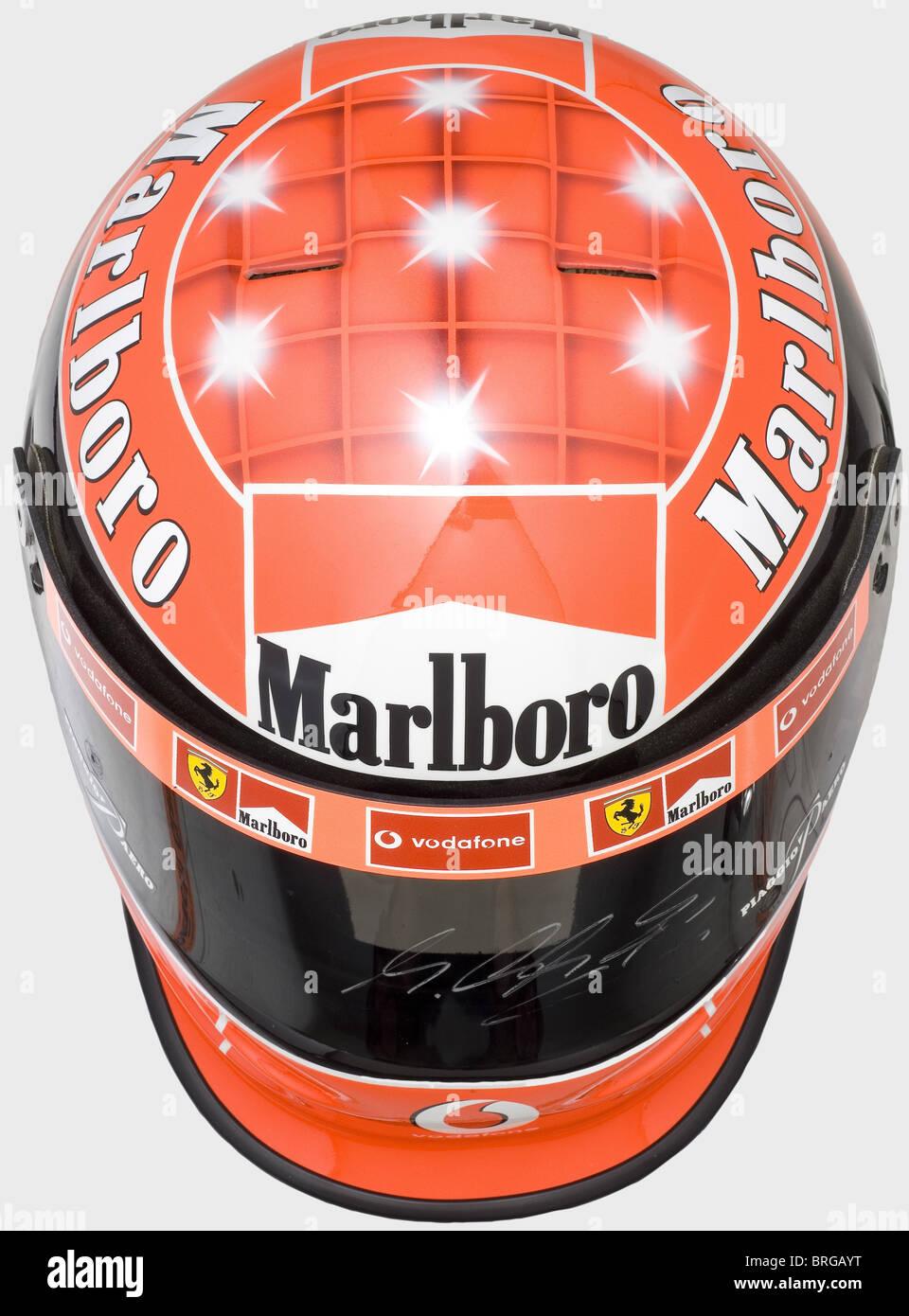 Michael Schumacher A Racing Helmet Of The Seven Time Formula 1 World Stock Photo Alamy