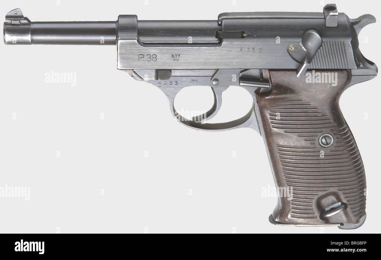 A Mauser P 38, code