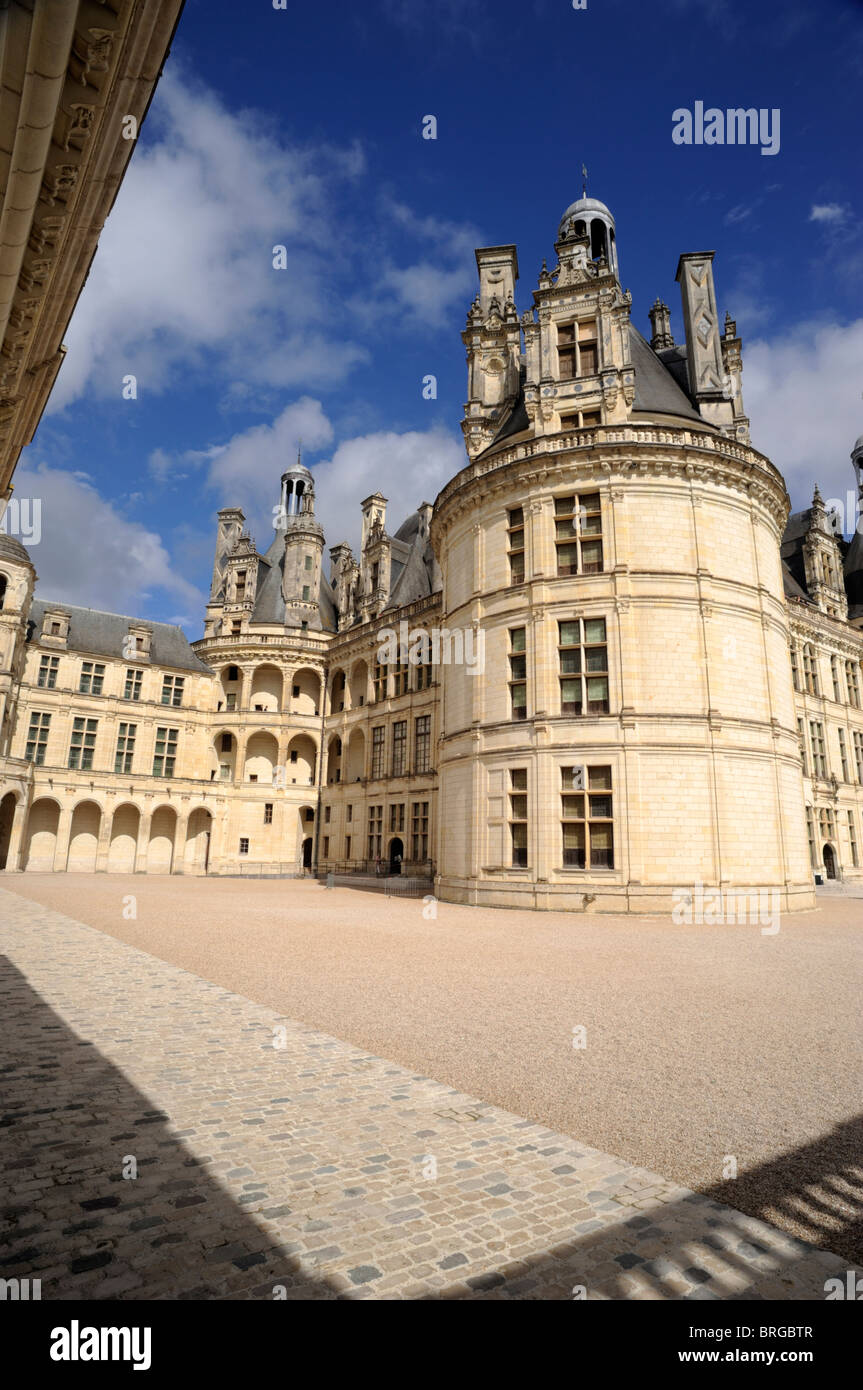 france, loire valley, chambord castle - Stock Image